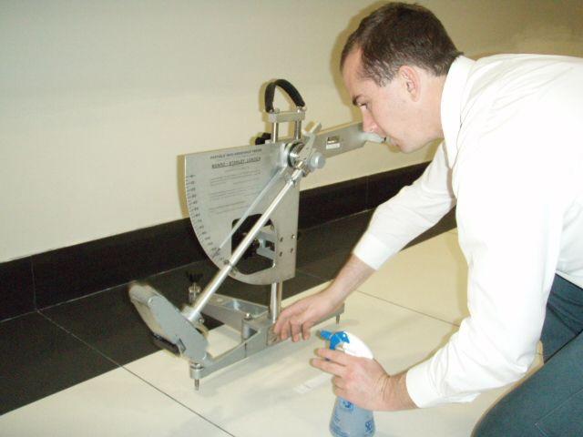 Safe Environments Slip Resistance Test Methods - Floor friction tester